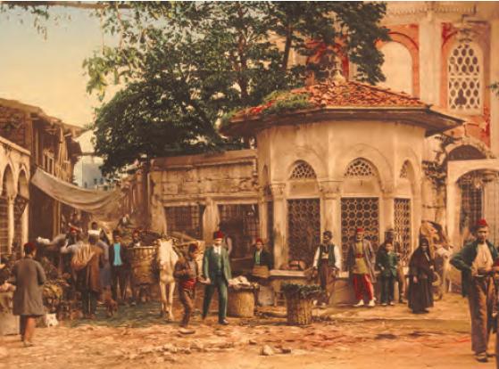 Bir Osmanlı çarşısı (Washington Kongre Kütüphanesi)