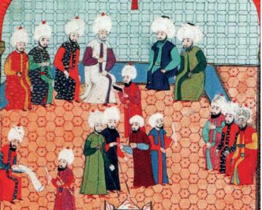 Divan-ı Hümayun toplantısı Minyatürü (Nakkaş Osman)